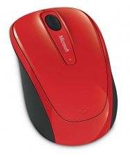 MOUSE MICROSOFT WIRELESS MOBILE 3500 USB RED