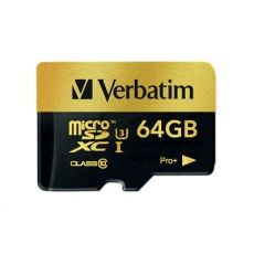 MICRO SD VERBATIM PRO+ MICROSDXC U3 64GB WITH ADAPTER 44034