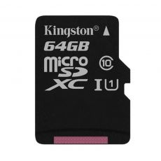 MICRO SD KINGSTON 64GB CANVAS SELECT 80R CLASA 10 UHS-I SDCS/64GBSP