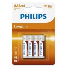BATERIE PHILIPS LONGLIFE AAA R3 4-BLISTER R03L4B/10