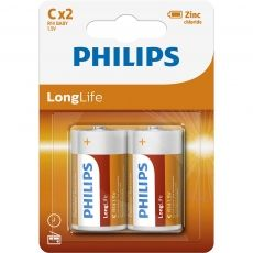 BATERIE PHILIPS LONGLIFE C 2-BLISTER R14L2B/10