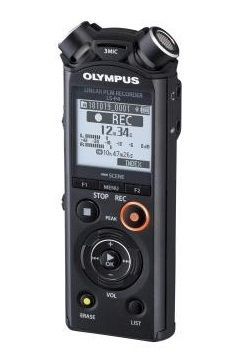 REPORTOFON OLYMPUS LS-P4 BLACK LINEAR PCM RECORDER V409160BE000